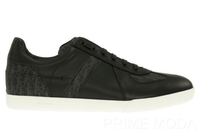 New Dior Homme Men's Black Leather Logo Lace-up Casual Sneakers Shoes 41/us 8
