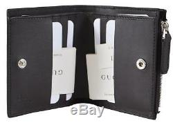 New Gucci 544475 Dark Brown Micro GG Small Card Case Mini Wallet WithZip Pocket