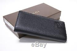 4fdaa53b9ab9 New Gucci Authentic Men's Black Long Bifold Id Soho Leather Wallet