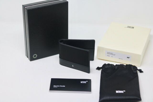 New Montblanc Nightflight Black Meisterstuck Wallet With Money Clip Clearance