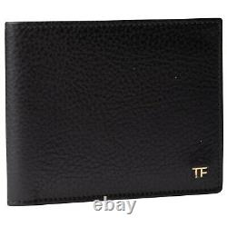 New Tom Ford Men's Brown Grained Leather Wallet
