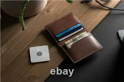 Nomad Wallet Bifold Tile Slim with location tracking BROWN