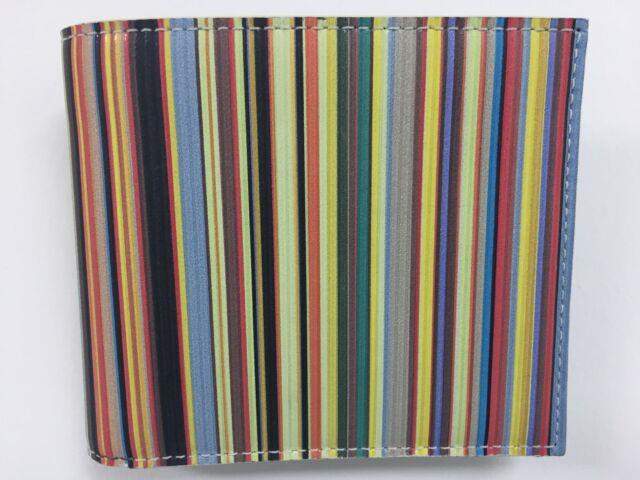 Paul Smith Multi Stripe Coin And Billfold Wallet