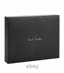 PAUL SMITH'Signature Stripe' Insert Teal Blue Leather COIN & Billfold Wallet