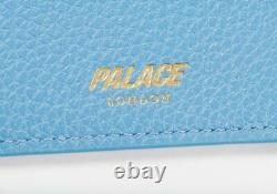 Palace Leather Cardholder Blue Brand New Next Day Ship