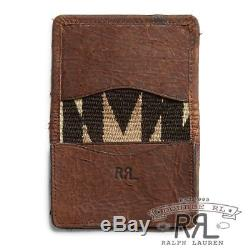 RRL Ralph Lauren Rustic Southwestern Vegetable Hand Dyed Leather Wallet NWT