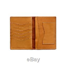 Ralph Lauren RRL Leather A-2 Military Passport Cover Case Bifold Wallet New
