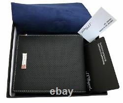 S. T. Dupont 170402 Défi perforated 8 card black leather wallet