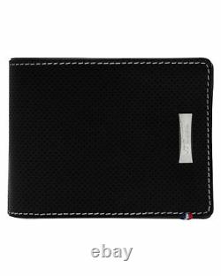 S. T. Dupont Defi Men's Perforated Black 6 CC Perforated Leather Wallet 170401