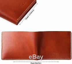 Slim wallet for men by hentley hand-Crafted Italian Leather Wallet (Manhattan)