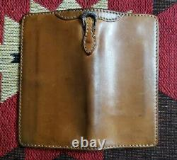 The Flat Head TFH Horsehide Leather Motorcycle Rider Wallet Bag Iron Heart RRL