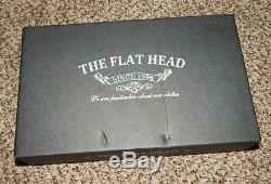 The Flat Head Wild Child Black Leather & Cordovan Wallet NEW
