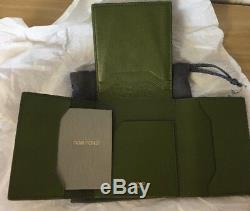 Tom Ford Four-Panel Men's Wallet- Green- Calf Leather -New With Tags