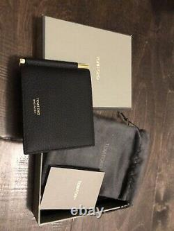 Tom Ford Grained Leather Bifold Money Clip Wallet Y0231T-CP9 Signature T Line