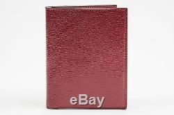 Tom Ford NWT Red Shiny Grained 100% Calf Leather Bifold Wallet Card Holder $650