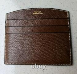 Vintage Leather Gucci Card Holder Italy
